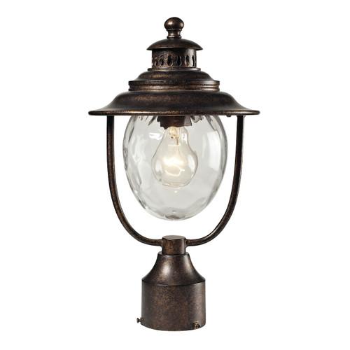 ELK Lighting 45032/1 Searsport 1-Light Outdoor Post Mount in Regal Bronze