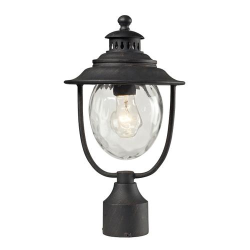 ELK Lighting 45042/1 Searsport 1-Light Outdoor Post Mount in Weathered Charcoal
