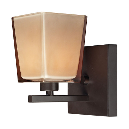 ELK Lighting 11436/1 Serenity 1-Light Vanity Lamp in Oiled Bronze with Amber Glass