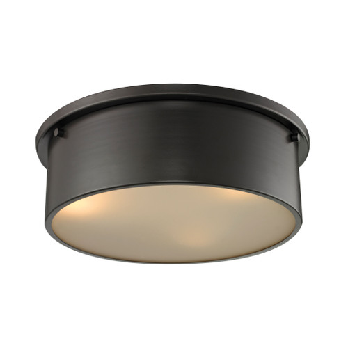 ELK Lighting 11811/3 Simpson 3-Light Flush Mount in Oil Rubbed Bronze with Frosted White Diffuser