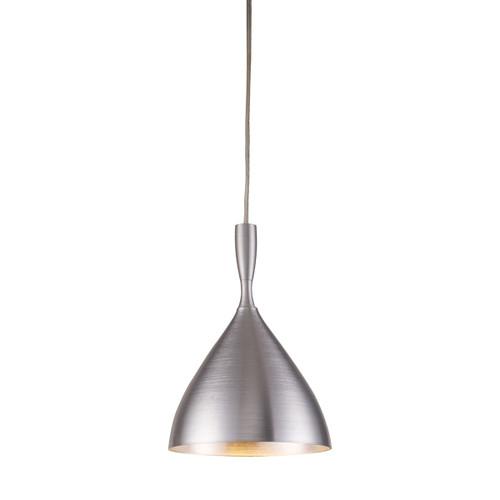 ELK Lighting 17042/1ALM Spun Aluminum 1-Light Mini Pendant in Aluminum with Matching Shade