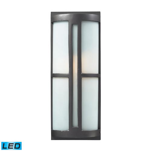 ELK Lighting 42395/1-LED Trevot 1-Light Outdoor Sconce in Graphite - Includes LED Bulb