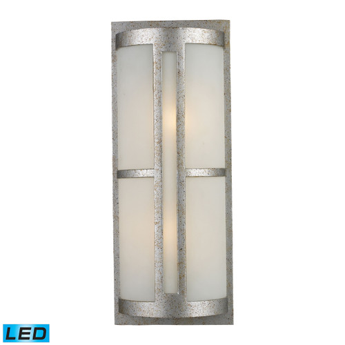 ELK Lighting 42096/2-LED Trevot 2-Light Outdoor Wall Lamp in Sunset Silver - Includes LED Bulbs