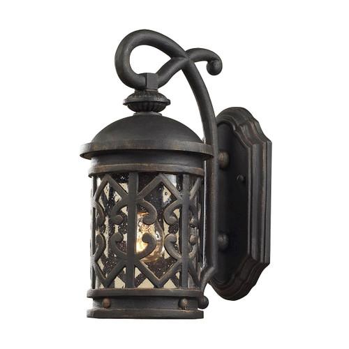 ELK Lighting 42060/1 Tuscany Coast 1-Light Outdoor Wall Lantern in Weathered Charcoal