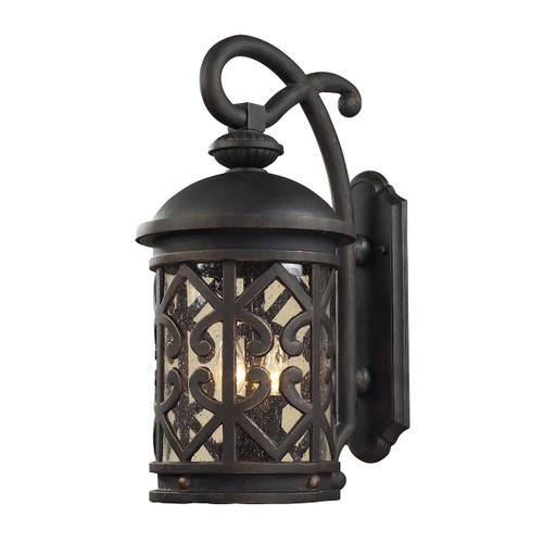 ELK Lighting 42061/2 Tuscany Coast 2-Light Outdoor Wall Lantern in Weathered Charcoal