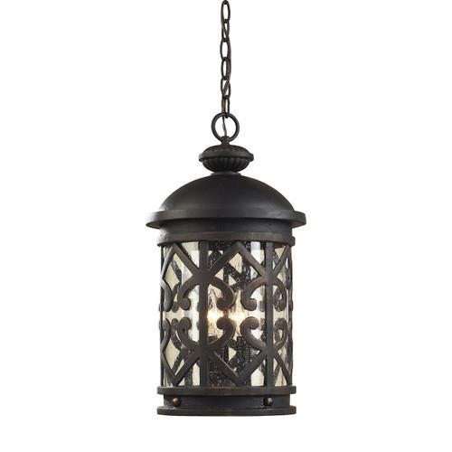 ELK Lighting 42063/3 Tuscany Coast 3-Light Outdoor Hanging Lantern in Weathered Charcoal