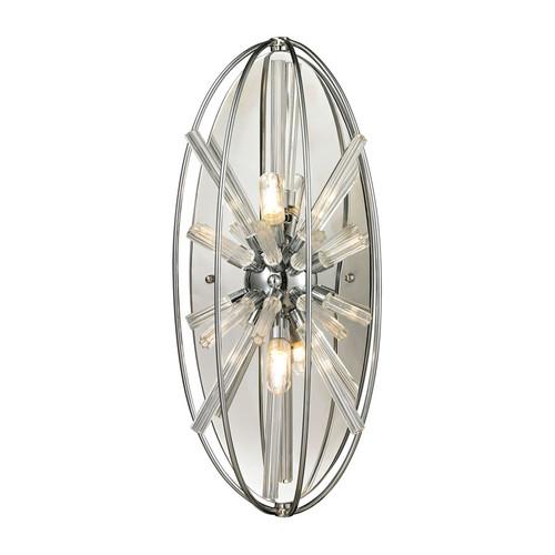ELK Lighting 11560-2 Twilight 2 Light Sconce in Polished Chrome