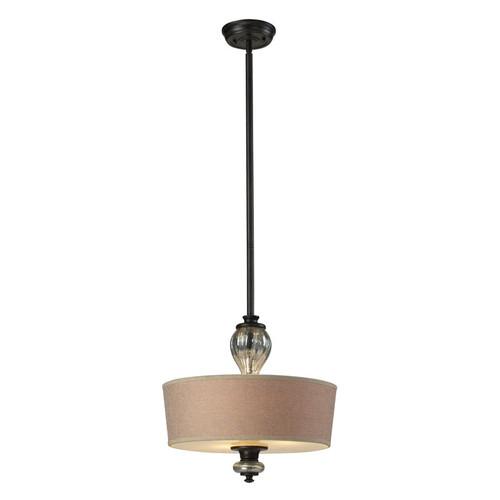 ELK Lighting 15081-3 Veronica 3 Light Pendant in Vintage Rust