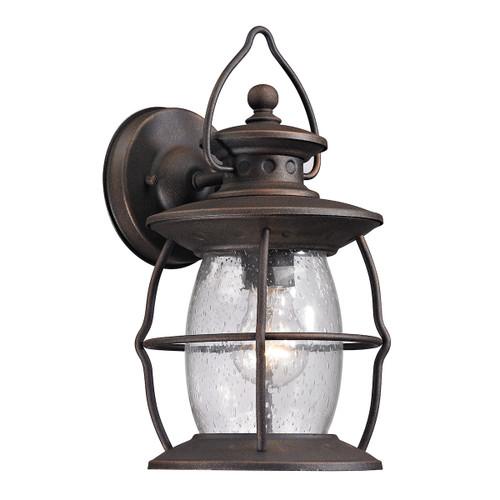 ELK Lighting 47040/1 Village Lantern 1-Light Outdoor Wall Lantern in Weathered Charcoal