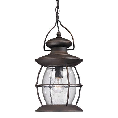 ELK Lighting 47043/1 Village Lantern 1-Light Outdoor Hanging Lantern in Weathered Charcoal