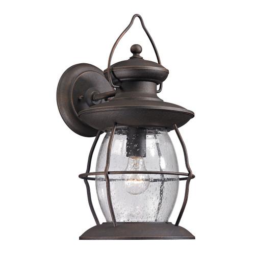 ELK Lighting 47042/1 Village Lantern 1-Light Outdoor Wall Lantern in Weathered Charcoal