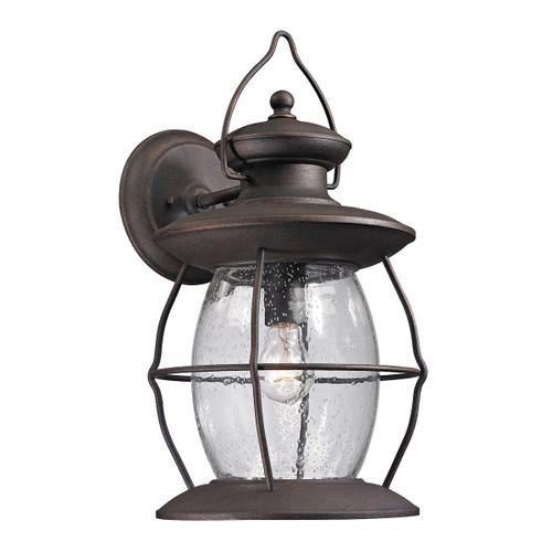 ELK Lighting 47044/1 Village Lantern 1-Light Outdoor Wall Lantern in Weathered Charcoal