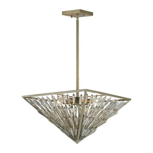 ELK Lighting 31771-6 Viva Natura 6 Light Pendant in Aged Silver