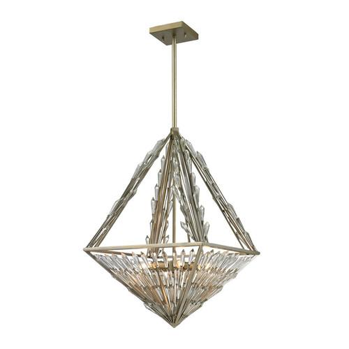 ELK Lighting 31776-6 Viva Natura 6 Light Pendant in Aged Silver