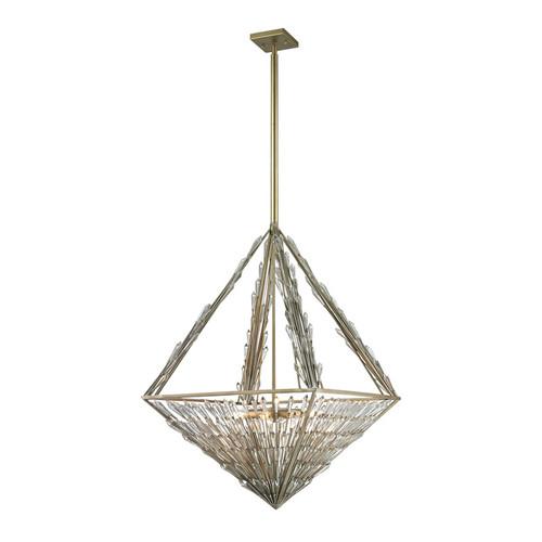 ELK Lighting 31777-8 Viva Natura 8 Light Pendant in Aged Silver