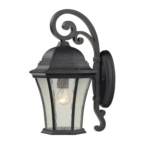 ELK Lighting 45051/1 Wellington Park 1-Light Outdoor Wall Lantern in Weathered Charcoal
