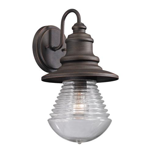 ELK Lighting 47045/1 Westport 1-Light Outdoor Wall Lamp in Weathered Charcoal