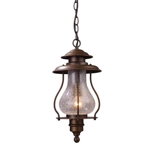ELK Lighting 62006-1 Wikshire 1-Light Outdoor Pendant in Coffee Bronze