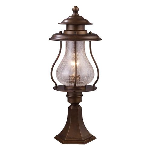 ELK Lighting 62007-1 Wikshire 1-Light Outdoor Post Mount in Coffee Bronze