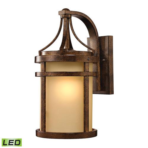 ELK Lighting 45097/1-LED Winona 1-Light Outdoor Wall Lamp in Hazelnut Bronze - Includes LED Bulb