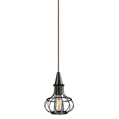 ELK Lighting 14191/1 Yardley 1-Light Mini Pendant in Oil Rubbed Bronze with Wire Cage