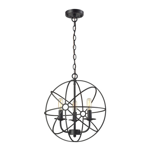 ELK Lighting 14243/3 Yardley 3-Light Chandelier in Oil Rubbed Bronze with Wire Cage