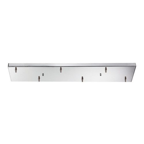 ELK Lighting 6RC-CHR Illuminare Accessories Rectangular Pan for 6 Lights in Chrome