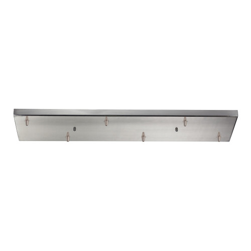 ELK Lighting 6RC-SN Illuminare Accessories Rectangular Pan for 6 Lights in Satin Nickel