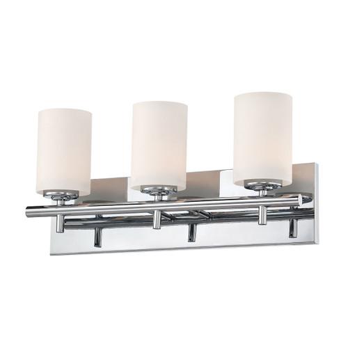 ELK Lighting BV6033-10-15 Barro 3-Light Vanity Lamp in Chrome with White Opal Glass