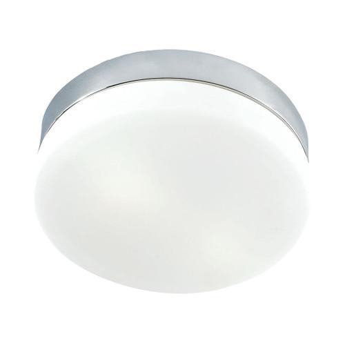 ELK Lighting FM1025-10-95 Disc 2-Light Flush Mount in Metallic Grey with White Opal Glass - Medium