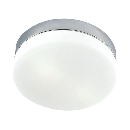 Elk FML1025-10-16M Disc LED Medium Flushmount in Frosted Glass/Satin Nickel