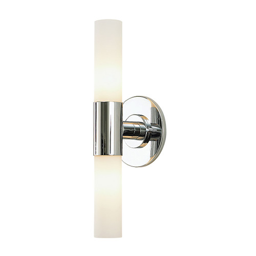 ELK Lighting BV820-10-15 Double Cylinder 2-Light Vanity Lamp in Chrome with White Opal Glass