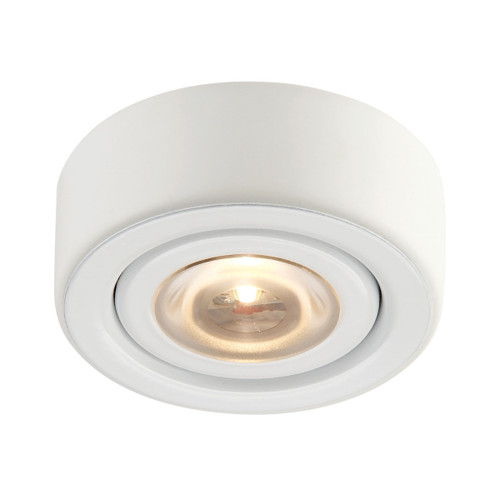 ELK Lighting MLE-101-30 Eco 1-Light Puck Light in White with Clear Glass Diffuser - Integrated LED