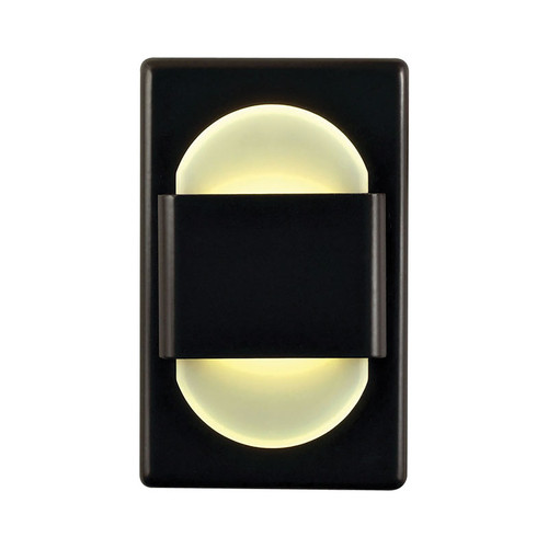 Elk WLE105DR32K-10-B Ez Step Recessed Wall Light with White Opal Acrylic Diffuser and Bronze Plate (C/W Driver)