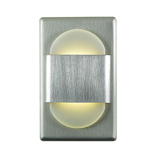 Elk WLE105DR32K-10-98 Ez Step Recessed Wall Light with White Opal Acrylic Diffuser and Brushed Aluminum Plate (C/W Driver)
