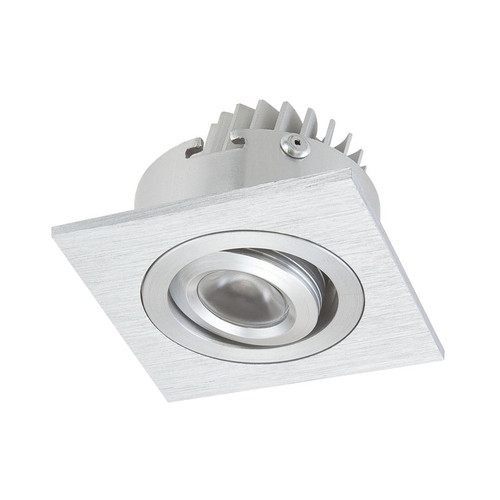 Elk WLE601C32K-0-98 Single Square Recessed 1*3W LED in Brushed Aluminum (Driver Included)