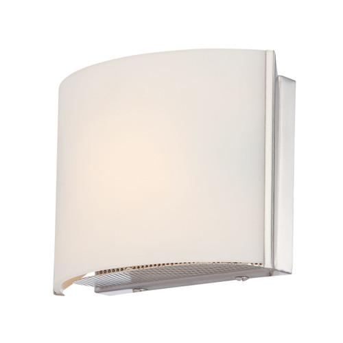 ELK Lighting BV6T1-10-15 Pandora 1-Light Vanity Sconce in Chrome with White Opal Glass