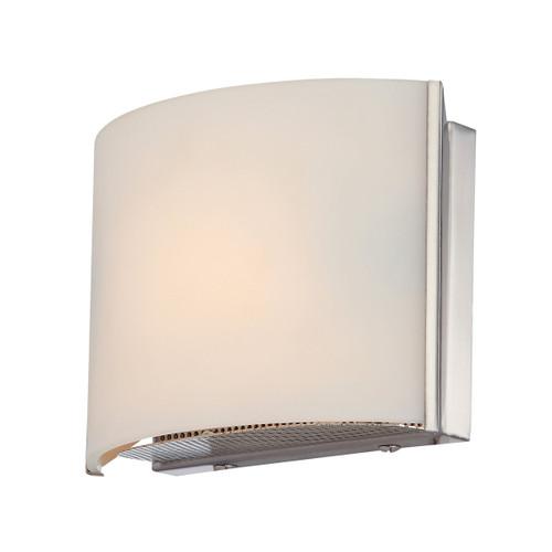 ELK Lighting BV6T1-10-16M Pandora 1-Light Vanity Sconce in Satin Nickel with White Opal Glass