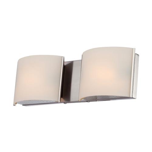ELK Lighting BV6T2-10-16M Pandora 2-Light Vanity Sconce in Satin Nickel with White Opal Glass