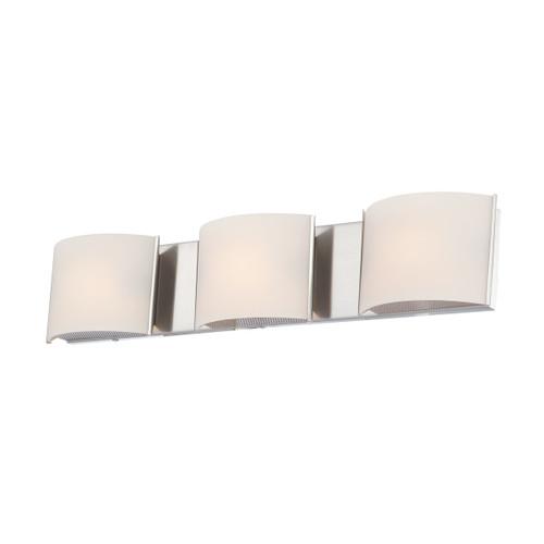 ELK Lighting BV6T3-10-15 Pandora 3-Light Vanity Sconce in Chrome with White Opal Glass
