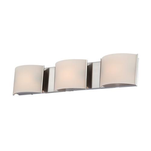ELK Lighting BV6T3-10-16M Pandora 3-Light Vanity Sconce in Satin Nickel with White Opal Glass