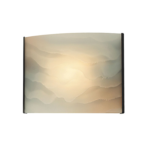 ELK Lighting BV711-HM-45 Pannelli 1-Light Vanity Sconce in Oil Rubbed Bronze with Hand-formed Honey Melon Glass