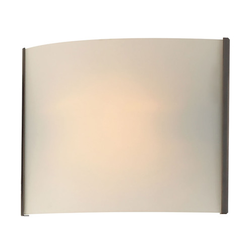 ELK Lighting BV711-10-45 Pannelli 1-Light Vanity Sconce in Oil Rubbed Bronze with Hand-formed White Opal Glass