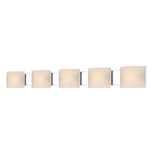 ELK Lighting BV715-10-15 Pannelli 5-Light Vanity Sconce in Chrome with Hand-formed White Opal Glass