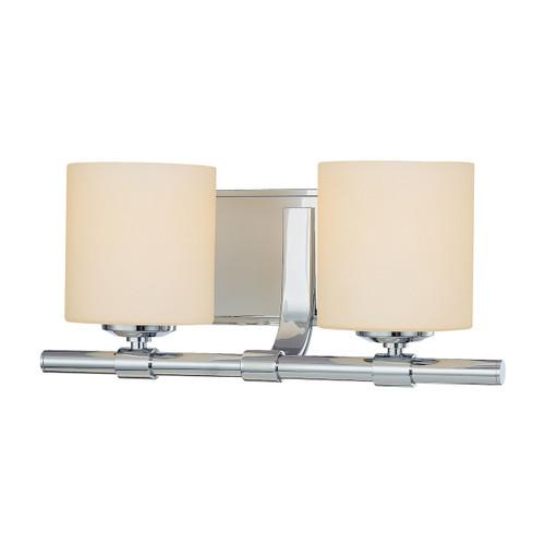 ELK Lighting BV852-10-15 Slide 2-Light Vanity Lamp in Chrome with White Opal Glass