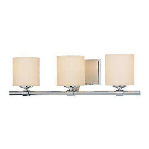 ELK Lighting BV853-10-15 Slide 3-Light Vanity Lamp in Chrome with White Opal Glass