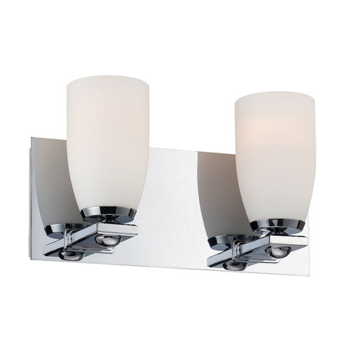 ELK Lighting BV1522-10-15 Sphere 2-Light Vanity Lamp in Chrome with White Opal Glass