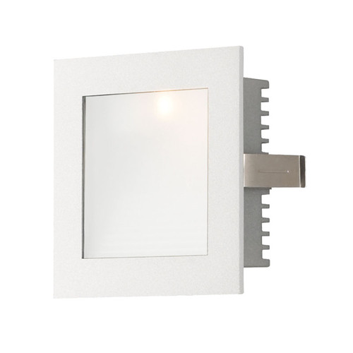 Elk WLE-101W Steplight with Wall Recessed LED Trim for New Construction Housing (Sold Separately) Opal Lens/White Trim