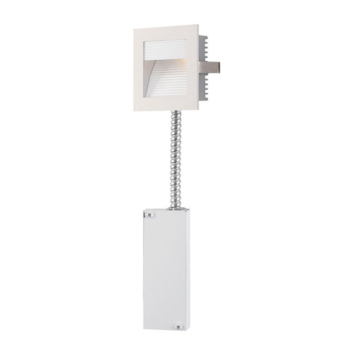 Elk WLE-102W-RM Steplight Main Wall RecessedRetrofit (LED) with Driver & Lamp - Corrugated Plate/White Trim