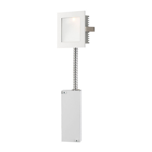 Elk WLE-101W-RM Steplight with Wall Recessed LED (Retrofit Housing) Opal Lens/White Trim